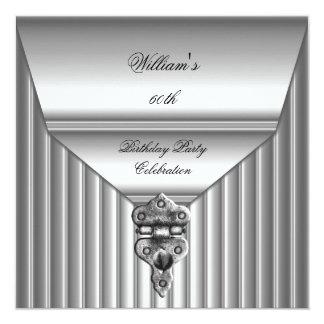 Elegant Mens 60th Birthday Party Lock Mans 2 Card