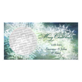 Elegant Merry Christmas! Customized Photo Card