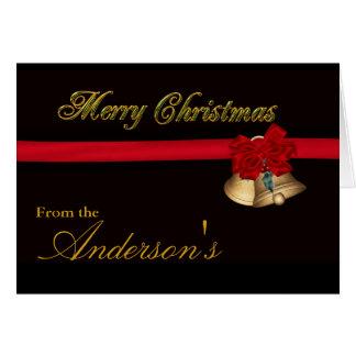 Elegant Merry Christmas Note Card