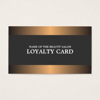 Elegant Metal Copper Salon Loyalty Card