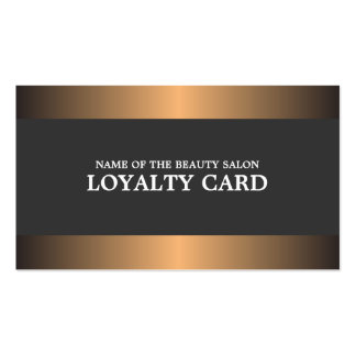 Elegant Metal Copper Salon Loyalty Card Pack Of Standard Business Cards