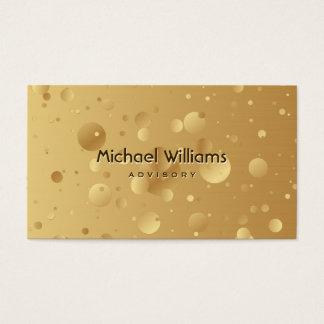 ELEGANT METAL MODERN GOLDEN GOLD SIMPLE BUSINESS CARD