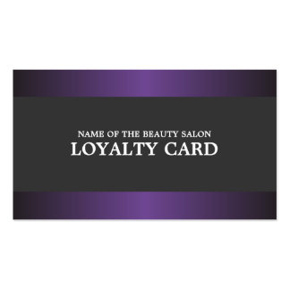 Elegant Metal Purple Grey Salon Loyalty Card Pack Of Standard Business Cards
