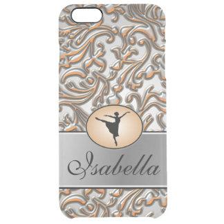 Elegant Metallic Ballet Clear iPhone 6 Plus Case
