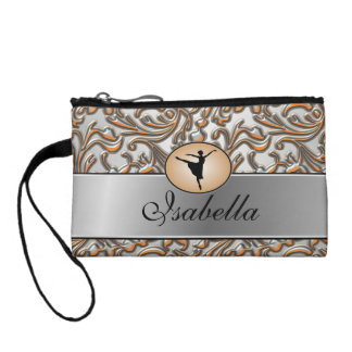 Elegant Metallic Ballet Coin Wallet