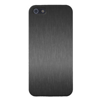 Elegant Metallic Gray Brushed Aluminum Look 2 iPhone 5 Cover