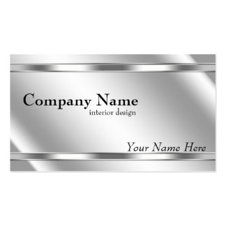 Elegant Metallic Look Shaded Platinum Pack Of Standard Business Cards