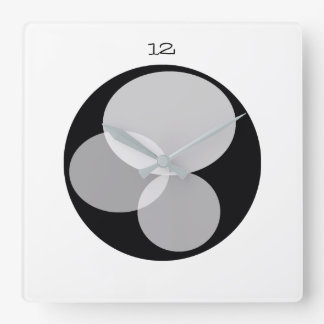 Elegant Minimal Abstract Black White Contrast Chic Square Wall Clock