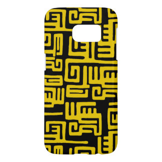 Elegant Minimal African Tribal Pattern Yellow Line