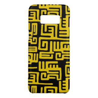Elegant Minimal African Tribal Pattern Yellow Line Case-Mate Samsung Galaxy S8 Case