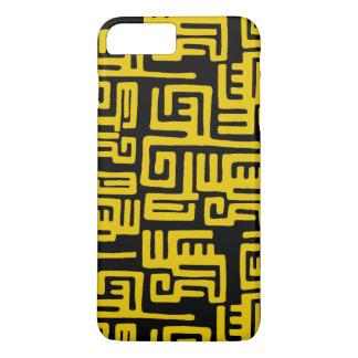 Elegant Minimal African Tribal Pattern Yellow Line iPhone 8 Plus/7 Plus Case