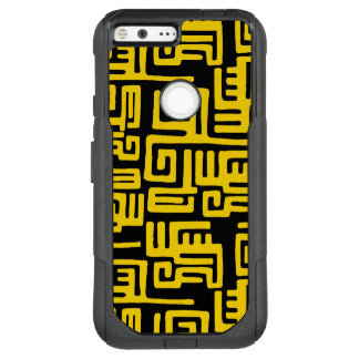 Elegant Minimal African Tribal Pattern Yellow Line OtterBox Commuter Google Pixel XL Case
