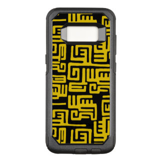 Elegant Minimal African Tribal Pattern Yellow Line OtterBox Commuter Samsung Galaxy S8 Case