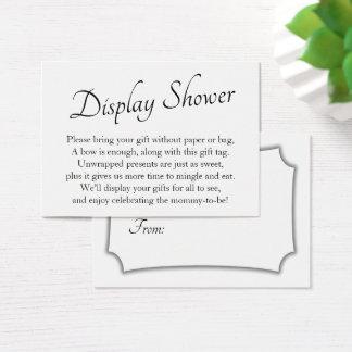 Elegant, Minimal Baby Display Shower Gift Card