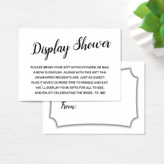 Elegant, Minimal No Wrap Bridal Shower Gift Card