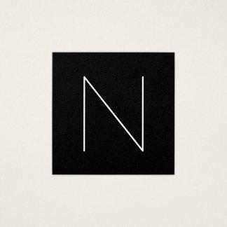 Elegant Minimal Plain Professional Black Square Business Card