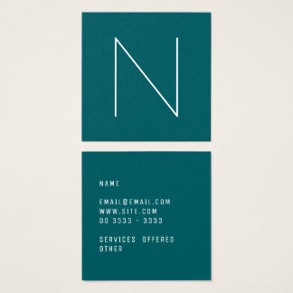 Elegant Minimal Plain Shaded Spruce Square Business Card
