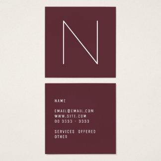 Elegant Minimal Plain Tawny Port Square Business Card