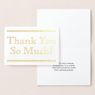 """Elegant, Minimal """"Thank You So Much!"""" Card"""