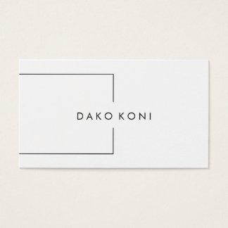Elegant minimalist black and white business card