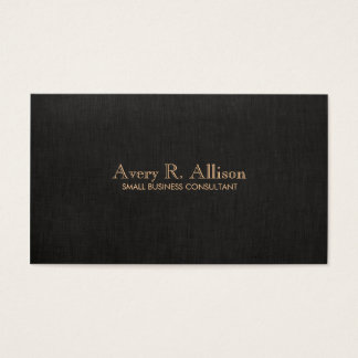 Elegant Minimalist Black Linen Look Professional