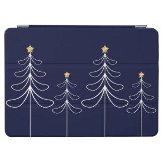Elegant minimalist Christmas tree design blue iPad Air Cover