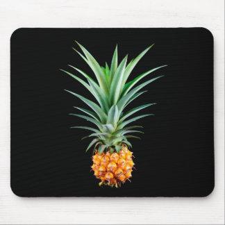 elegant minimalist pineapple | black background mouse pad