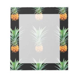 elegant minimalist pineapple | black background notepad