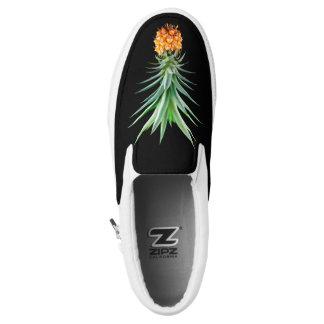 elegant minimalist pineapple | black background Slip-On shoes