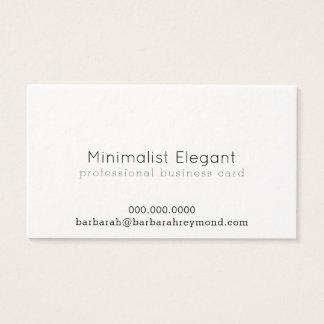 elegant minimalist professional luxe business card