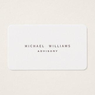 ELEGANT MINIMALIST PROFESSIONAL PAPER PLATINUM BUSINESS CARD