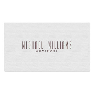 ELEGANT MINIMALIST PROFESSIONAL SIMPLE TARGET PACK OF STANDARD BUSINESS CARDS