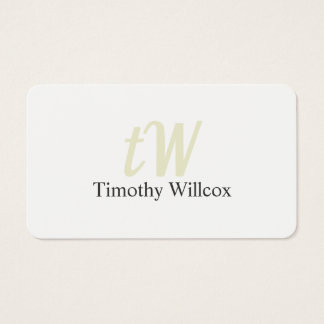 Elegant Minimalist Target Round Corners Business Card