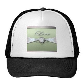 Elegant Mint Green Wedding Invitation and Favor Cap