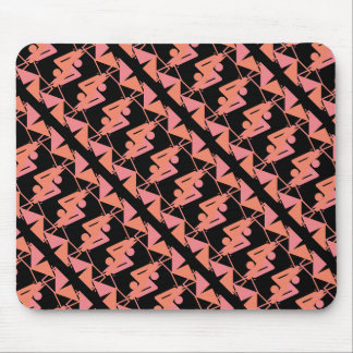 Elegant Mirrored Geometric & Abstract Pattern Mouse Pad