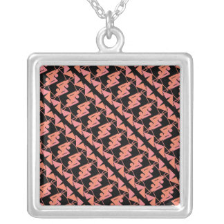 Elegant Mirrored Geometric & Abstract Pattern Silver Plated Necklace