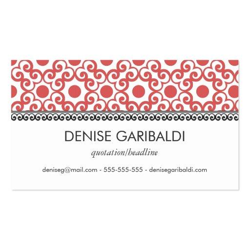 Elegant Modern Arabesque Business Calling Card Business Card Template