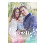 Elegant Modern Be Merry Christmas Photo Card Personalised Announcement
