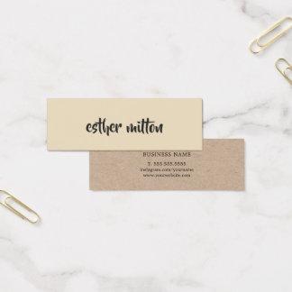 Elegant Modern Beige Kraft Paper Consultant Mini Business Card