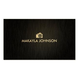 Elegant & Modern Black and Gold Photographer Business Cards