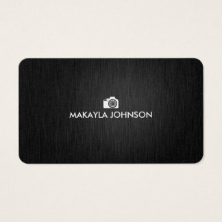 Elegant & Modern Black and Silver Photographer Business Card