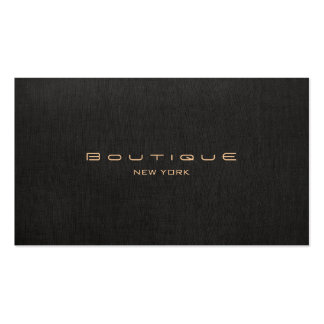 Elegant Modern Black Linen Professional Pack Of Standard Business Cards