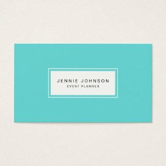 Elegant Modern Blue Business Card