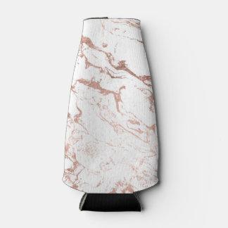 Elegant modern chic faux rose gold white marble