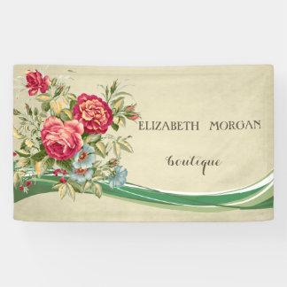 Elegant Modern Chic  Flowers Banner
