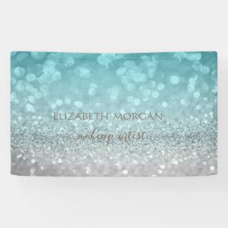 Elegant Modern Chic Glamorous Glittery Bokeh Banner