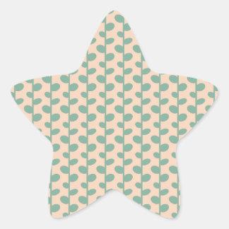 Elegant Modern Chic Leaf Pattern Star Sticker