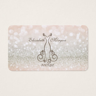 Elegant Modern Chic Proffesional Glittery,Dress Business Card