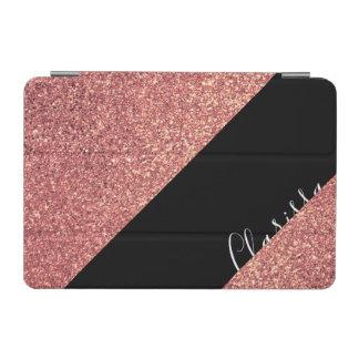 Elegant modern chick rose gold glitter black iPad mini cover