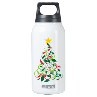Elegant Modern Christmas tree Illustration 0.3 Litre Insulated SIGG Thermos Water Bottle